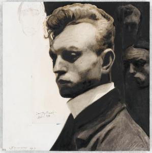 Autoritratto del pittore belga Leon Spilliaert